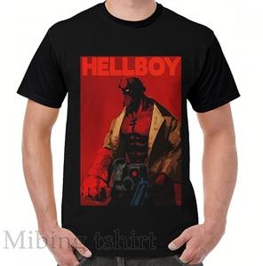 Футболка с забавным принтом для мужчин и женщин, повседневный топ с круглым вырезом и коротким рукавом, с графическим принтом Hellboy