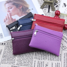 Women Fashion Coin Card Key Ring Wallet Pouch Mini Purse Zipper Small Change Bag стоимость