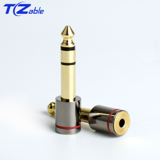 20pc Adapter Jack 6.3 Jack 3.5 Male Female Converter Gold-Plated Stereo Jack 6   -f-   35 DIY Speaker Microphone Audio Connector