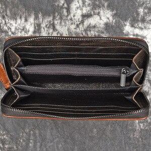 Image 5 - GEHEN LUCK Marke Echtes Leder Armband Kupplungen Brieftaschen Männer Kredit ID Visitenkarte Fall Frauen Handy Tasche Geldbörse unisex