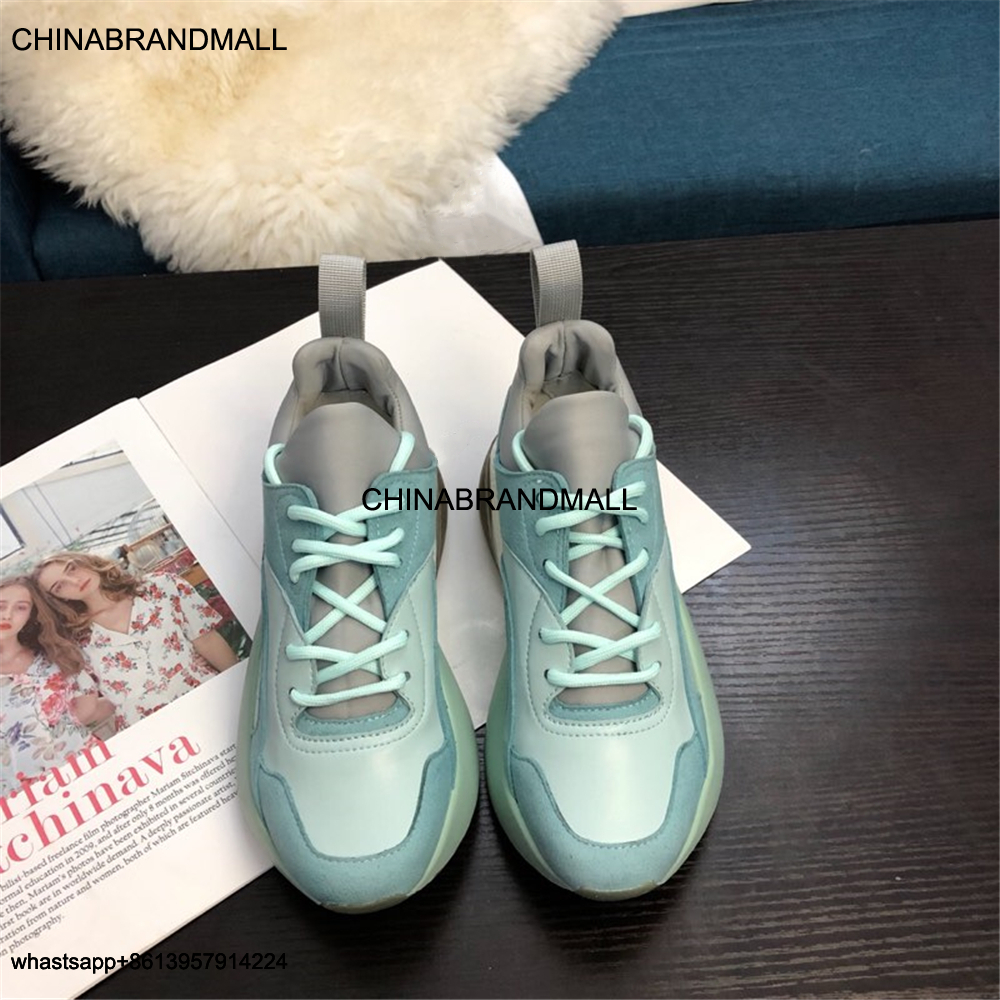 Fashion Mixed Colors Lace Up Women's Shoes Casual Genuine Leather Shoes For Women Trand Of Round Toe Women's Shoes