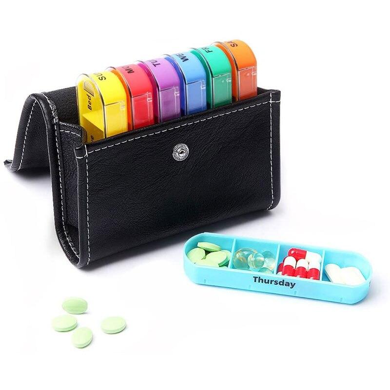 7 дней коробка для таблеток Органайзер коробка для лекарств держатель Органайзер контейнер для таблеток Пластиковые Портативные отсеки|Таблетницы и разделители|   | АлиЭкспресс