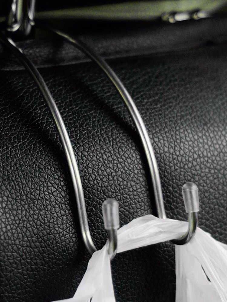 Çok fonksiyonlu Metal oto araba koltuk kafalık askı çanta kancası tutucu çanta çanta kumaş bakkal depolama oto Fastener klip
