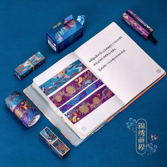 3pcs Summer Palace Paper Washi Tape Set Original Chinese Luxury Style Adhesive Masking Tapes for Lipstick Diary Sticker DIY 6330 1