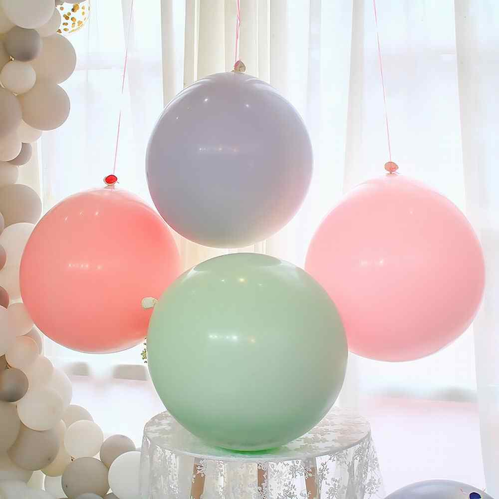5/10/18/24/36 Inch Macaron Latex Ballonnen Multicolor Grote Pastel Ballonnen Birthday Party Wedding Bridal Shower decoraties