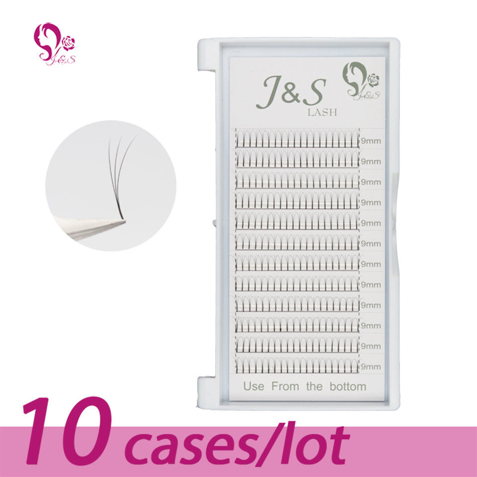 10trays Volume W 3D Eyelash Extension 0.10 Individual Eye Lashes Professional Makeup Tools Thick Long Lash From Korea