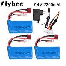 7.4 V 2200Mah 18650 Lipo Batterij Voor Rc Auto Afstandsbediening Helikopter Speelgoed Onderdelen Groothandel 7.4 V 1500 Mah lipo Batterij T Plug
