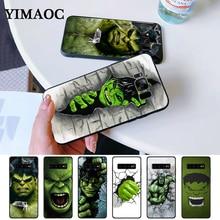 Marvel Comic Superhero Hulk Painted Silicone Case for Samsung S6 Edge S7 S8 Plus S9 S10 S10e Note 8 9 10 M10 M20 M30