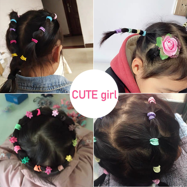 Hot Price 0f53 New 100pcs Lot Hair Bands Girl Candy Color