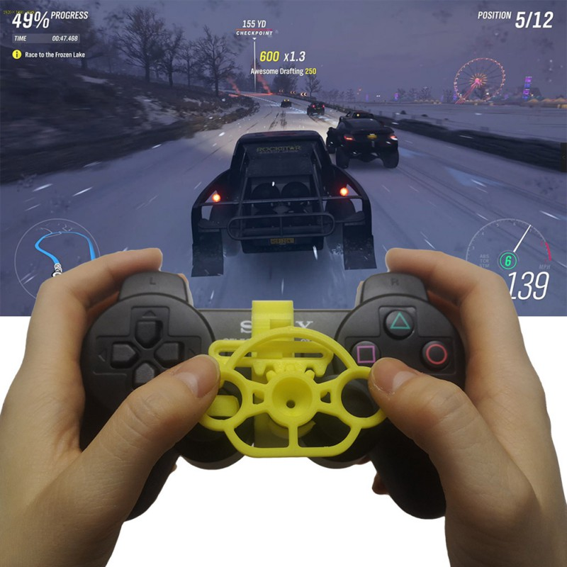 New PC Computer Racing Game Controller Steering wheel Simulation Driver For PS4 PS3 Wireless Gamepad Joysticker Steering Wheel image