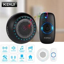 KERUI sonnette intelligente sans fil M523, Kit de sécurité pour maison, étanche, avec boutons colorés LED, boutons 433MHZ