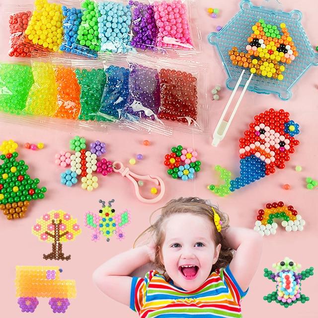 Refill Hama Beads Puzzle Aquabeads DIY Water Spray Beads Set Ball Games 3D Handmade Magic Toys For Girls Children 4