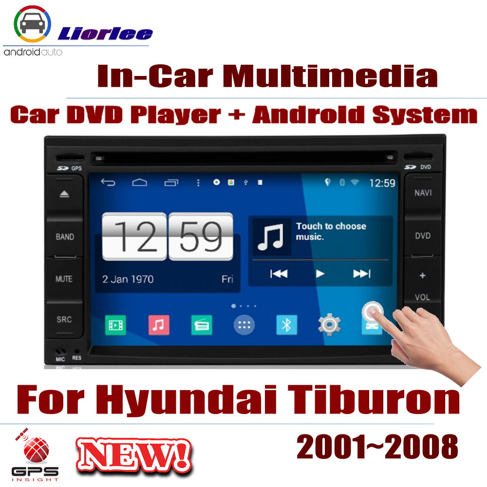 Auto DVD Player GPS Navigation For Hyundai Tiburon 2001~2008 Car Android Multimedia System HD Screen Radio Stereo Head Unit image