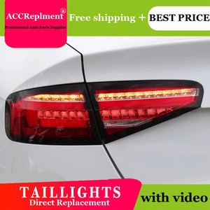 Image 3 - Car Styling LED Tail lights For Audi A4 2013 2016 Taillight LED Running light + Dynamic Turn Signal + Reverse + Brake A Set