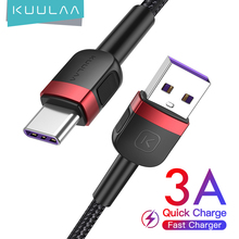 KUULAA USB C Cable For redmi note 9 pro Type C cable fast charging for Xiaomi poco m3 x3 nfc USB-C Quick Charger USBC data cord