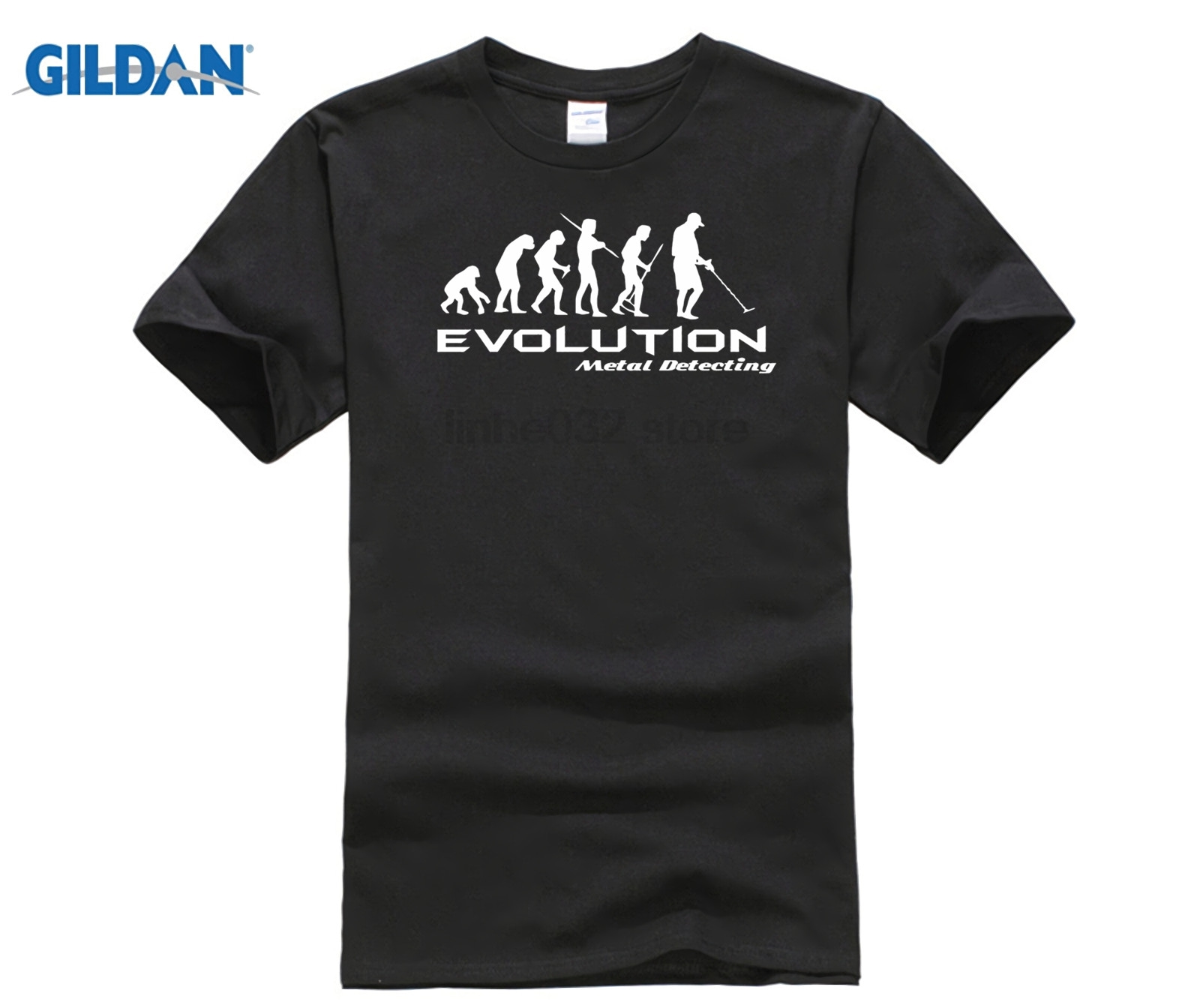 2020 New Fashion Brand Clothing Metal Detector Evolution T Shirt Funny Tee Shirt Darwin Theory Hobby Retro Tee Shirts