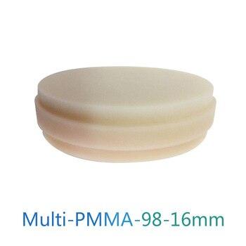 Multilayer PMMA Blocks 98*16mm C1/C2/C3/C4/D2/D3/D4 Clear Shades Pma-Temp PMMA Disc CAD/CAM Multilayer PMMA Disk 98 16mm medical grade cad cam material peek pucks poly ether ether ketone polymer disc dentistry peek
