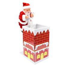 Toy Santa-Claus Ornaments-Toy Climbing-Chimney-Doll Gifts Christmas New-Year with Music