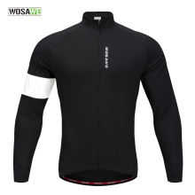 WOSAWE Mens Cycling Jackets Fleece Thermal Jersey Long Sleeves Keep Warm Spring Fall Winter Clothing Bike Coat
