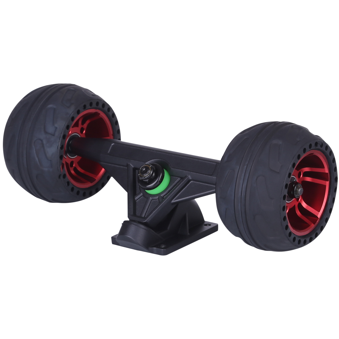105LMH All Terrain Rubber Wheel With Kingpins Truck - Black/Red