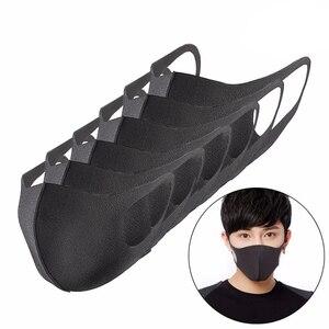 100 шт гигиеническая маска из чистого хлопка Ветрозащитный прочный черный фильтр многоразовая анти-туман Анти-носовая сетка защита для взро...