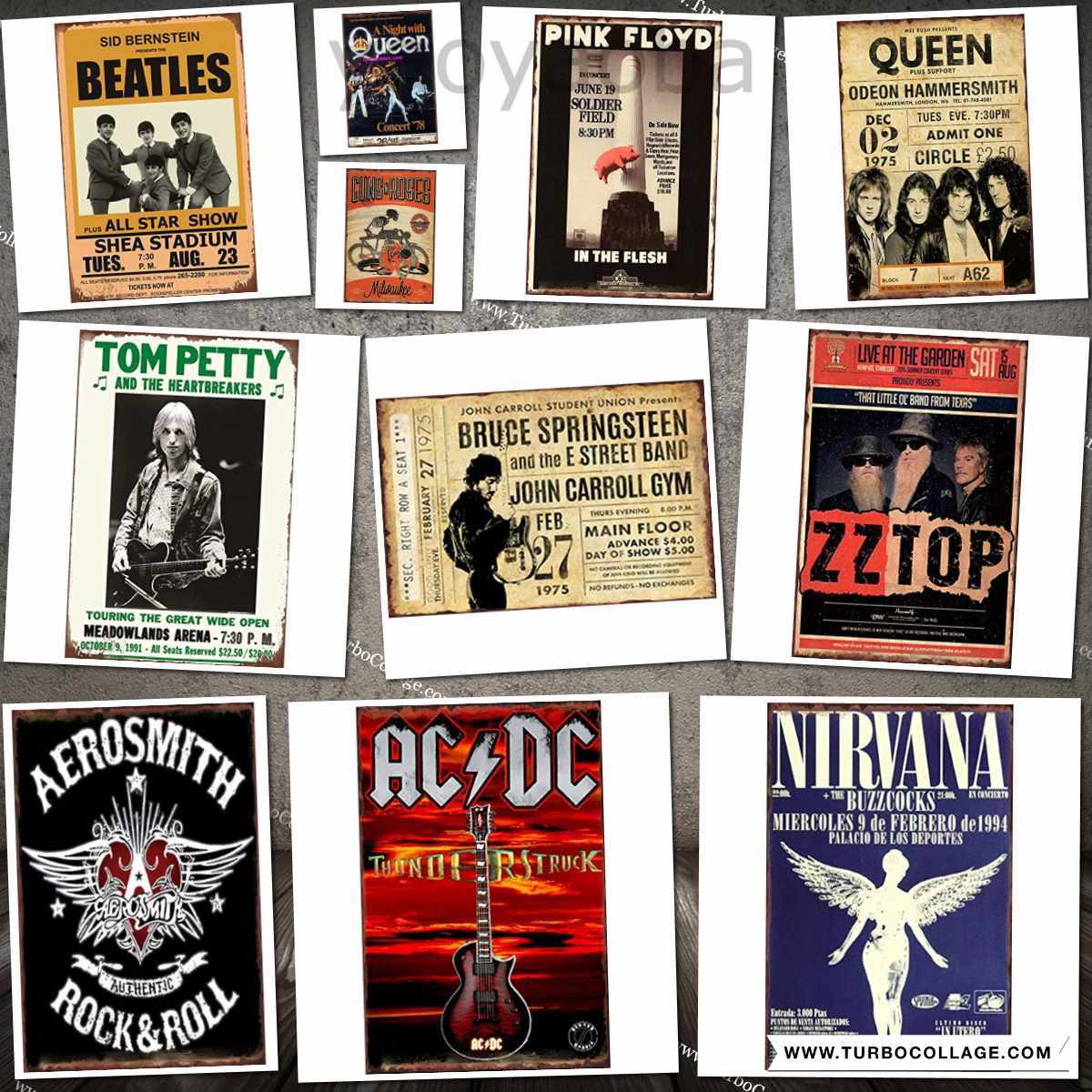 Easy Painter Old Vintage Signs Plaque Iron Printing, Rock & Roll Sign Metal Art Bar Pub Man Cave Decor Poster