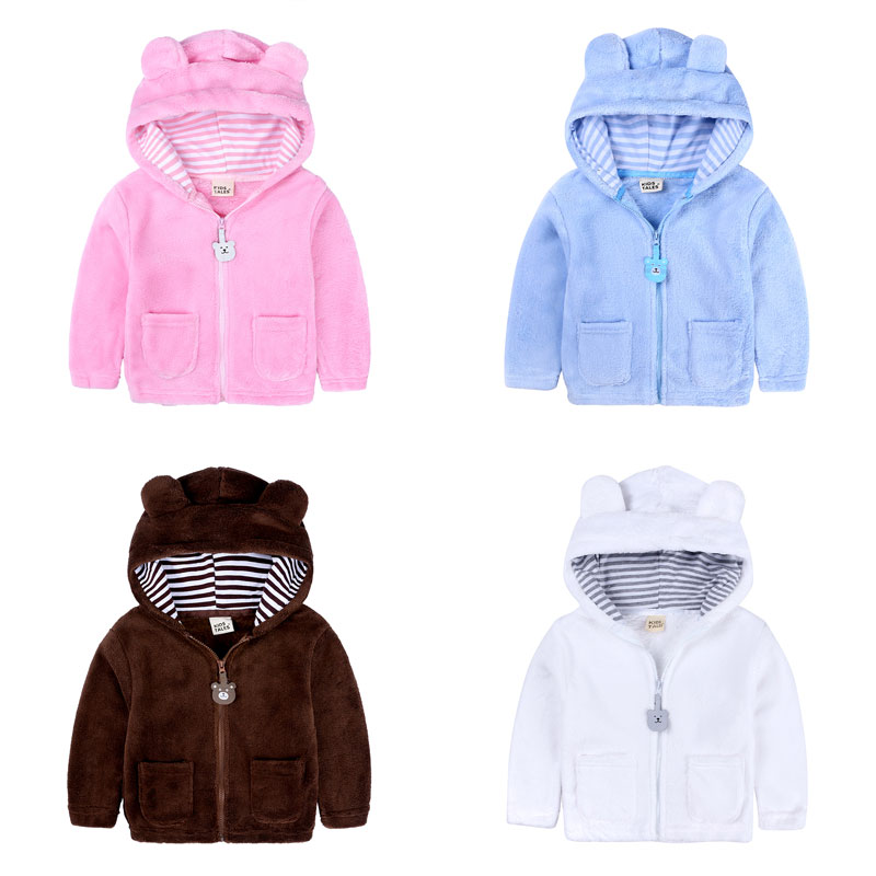Thick Velvet Infant Girl Clothes Winter Baby Boy Coats Long Sleeve Hooded Toddler Jackets Fashion Newborn Costume 6-24Months