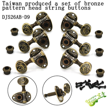 Taiwan bakelite guitar string button strings open bronze shaft string pattern must knob volume grover restoring ancient ways image