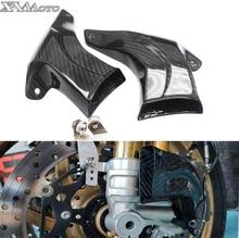 אוניברסלי אופנוע בלם מערכת אוויר קירור לדוקאטי Panigale V4 V4R V4S 899 959 1199 סיבי פחמן צינורות + הרכבה ערכת