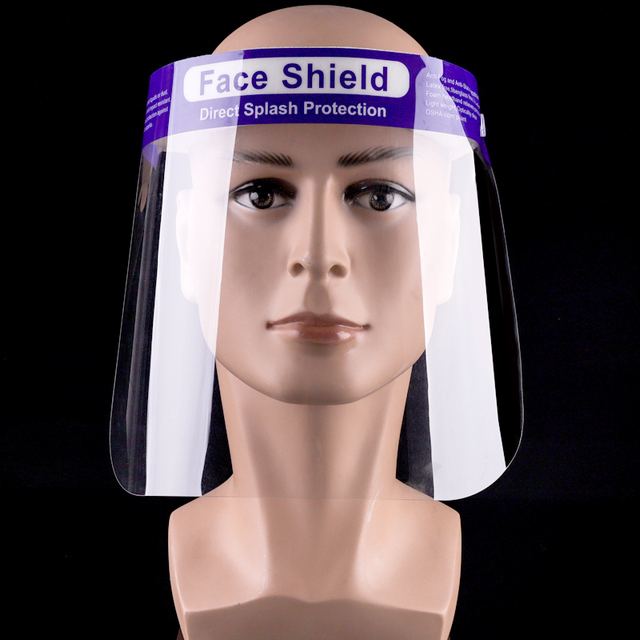 10PCS Face Shield for Adult Kids Anti-fog Transparent Film with Adjustable Headband Large View Washable Reusable