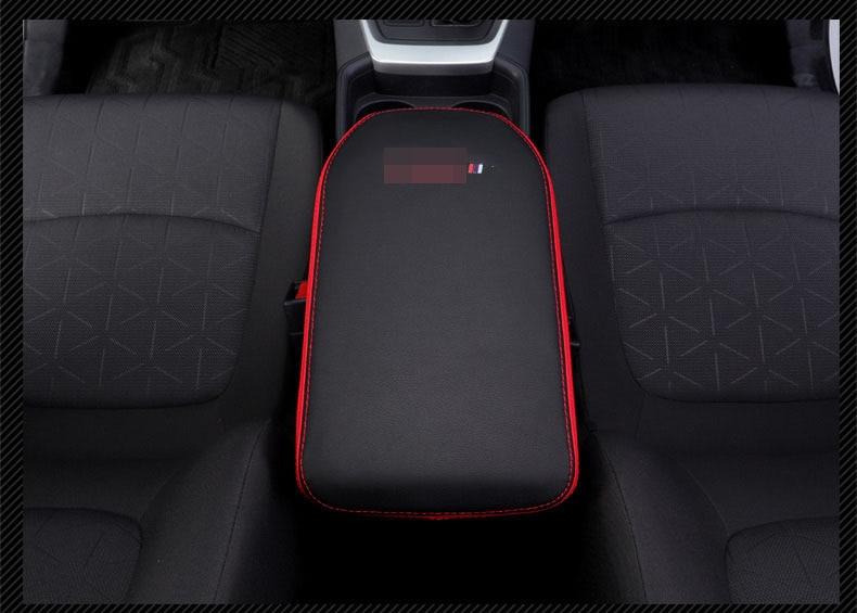 Image 5 - Super fiber Carbon Or Black Leather Car Central Armrest Cover For Toyota RAV4 RAV 4 XA50 2019 2020 Car accessoriesCar Anti-dirty Pad   -