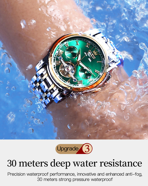 2PCS His And Her Luxury Gifts Couple Watches Women's Men Automatic Mechanical Sapphire Crystal Wristwatch For Valentine's Day 4
