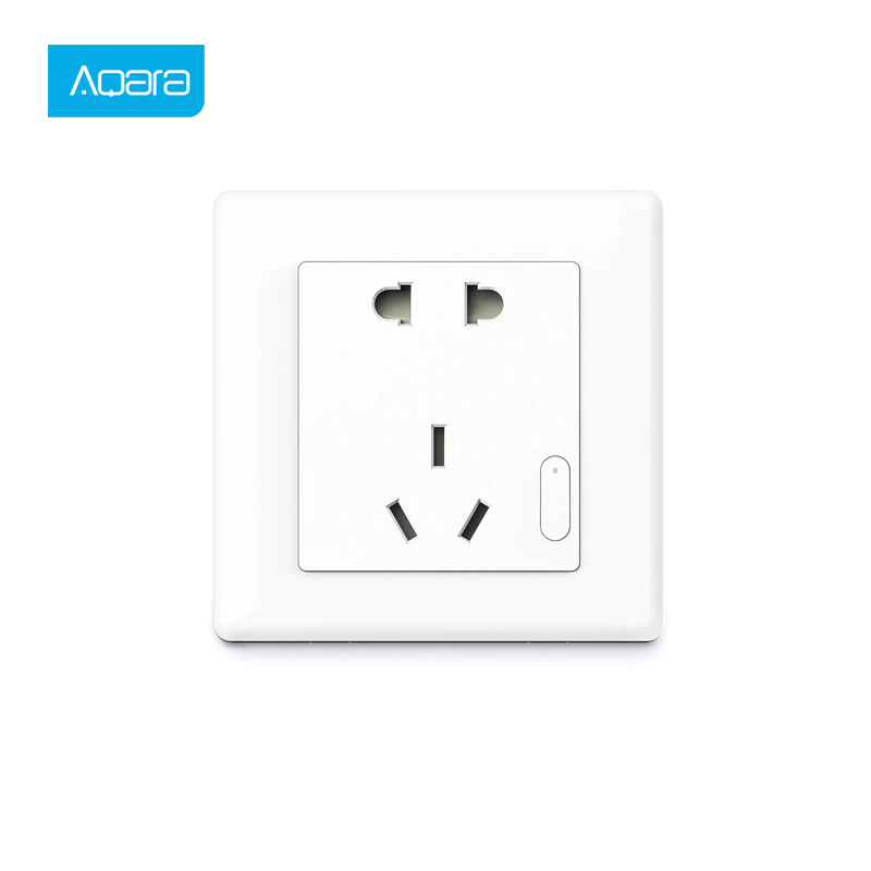 Aqara Smart Wall Socket ZigBee Wireless Mijia Phone Control Wall Socket Switch Work For Xiaomi Smart Home Kits APP Hot
