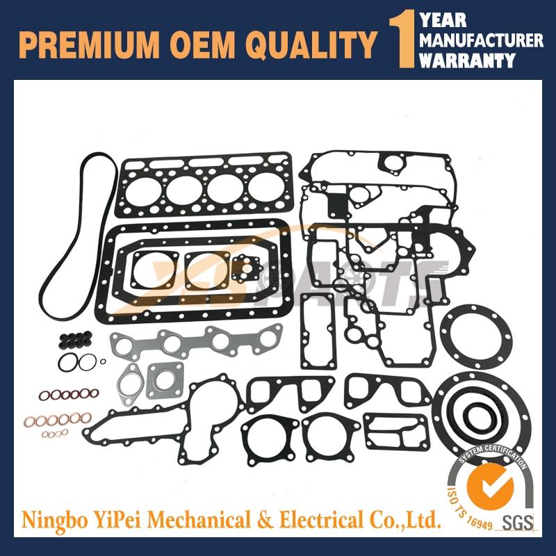 V1702 Overhaul Gasket Full Gasket Kit & Cylinder Head For Kubota V1702 Engine