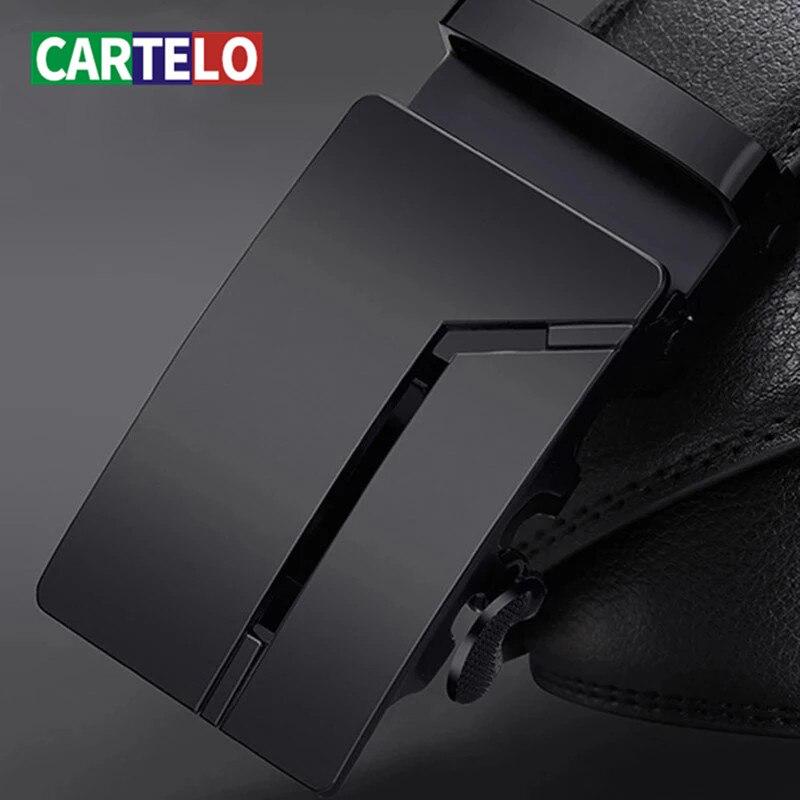 Cinture da uomo di alta qualità da uomo di alta qualità da uomo cinture da uomo in vera pelle di vitello cintura nera fibbia automatica