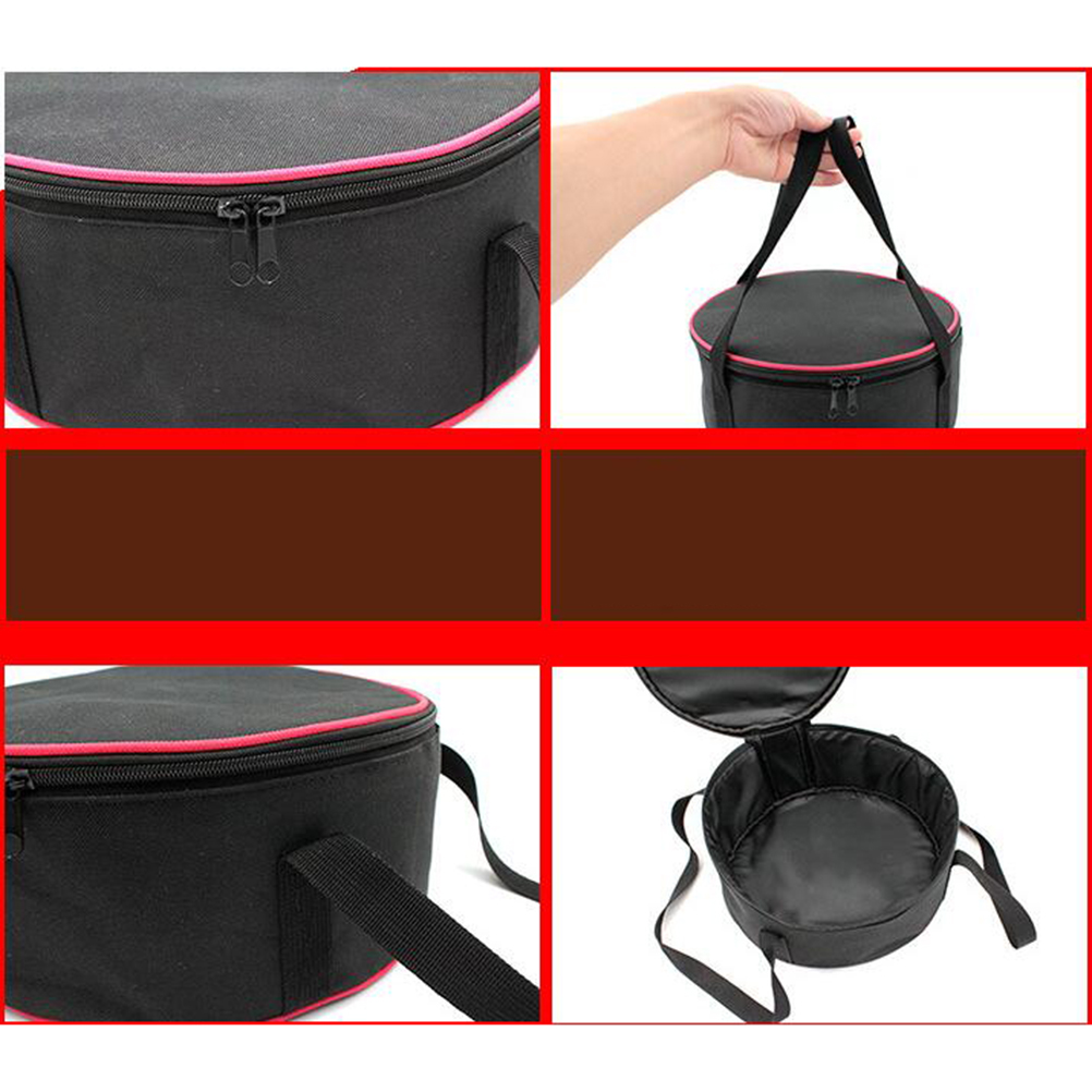Camping Cookware Storage Bag Large Outdoor Camping Bowl Pan Set Picnic Barbecue Kitchen Utensils Round Storage Pot Bag Oxford Cloth Storage Bag for Outdoor Camping Hiking and Picnic Black
