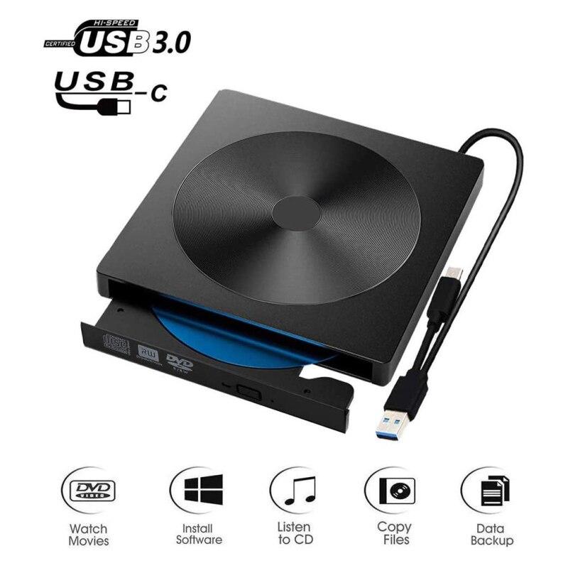 Внешний DVD привод USB 3,0 портативный CD/DVD +/-RW привод/dvd-плеер для ноутбука CD ROM горелка совместимая USB CD привод домашний аудио