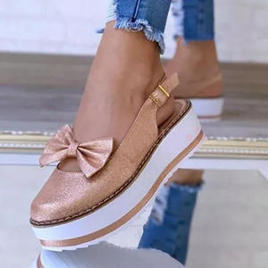 Female Shoes Sneakers Buckle Platform Ladies Loafers Autumn Summer Women 35-43 Bow Zapatos-De-Mujer