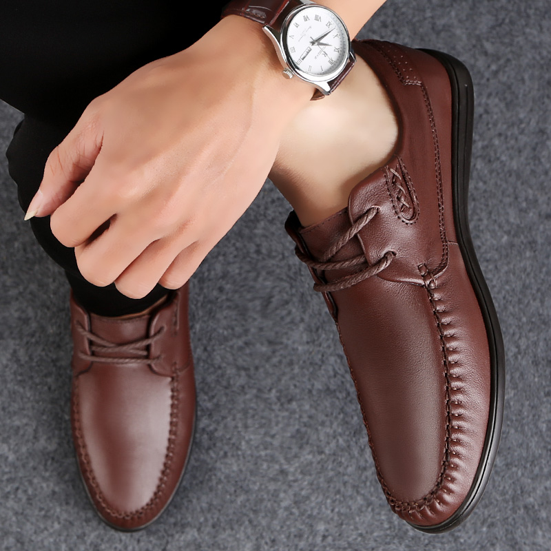 Genuine Leather Formal Men Shoes Leather Loafers Men Business Office Casual Shoes Classic Flat Designer Adulto shoes Lofer Shoes