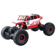 2.4G Rock Crawler Car Red Remote Control Toy Car 1:18 Machine For Children Outdoor Toy Model Off-Road Vehicle Toys(China)