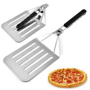 Stainless Steel Cake Shovel Plus Size Pizza Shovel Foldable Shovel with Antiskid Hand Handle|Pizza Tools|   -
