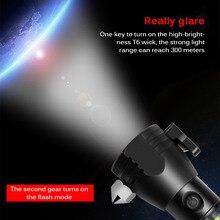 Multifunctional Solar Hammer Emergency Light Solar Powered LED Flashlight Safety Hammer USB Rechargeable Magnet Survival Tool