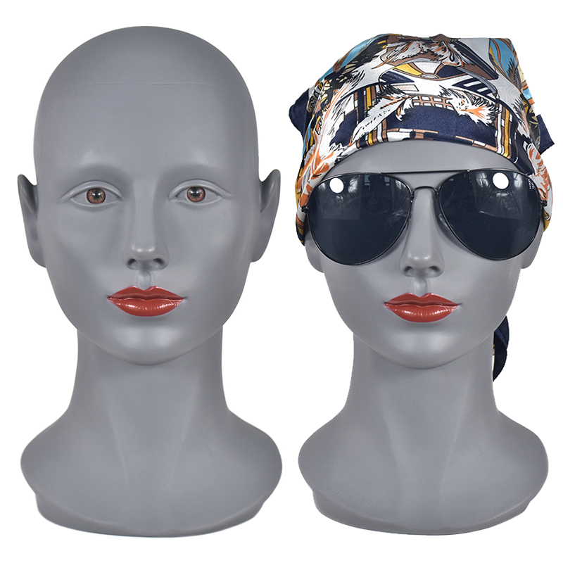 20 Inch Training Head With Clamp Popular Cosmetology Bald Mannequin Heads For Makeup Practice Wig Making Hats Display