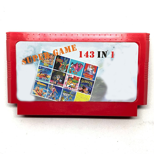 143 in 1 60 Pin Cartridge for 8 Bit Video Game Console with Earthbound Fantasy 1