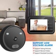 R11 Smart Cordless for Warehouses Home Office 2.4 inch Peephole Door Camera Doorbell IR Night Vision Door Eye Door Bell