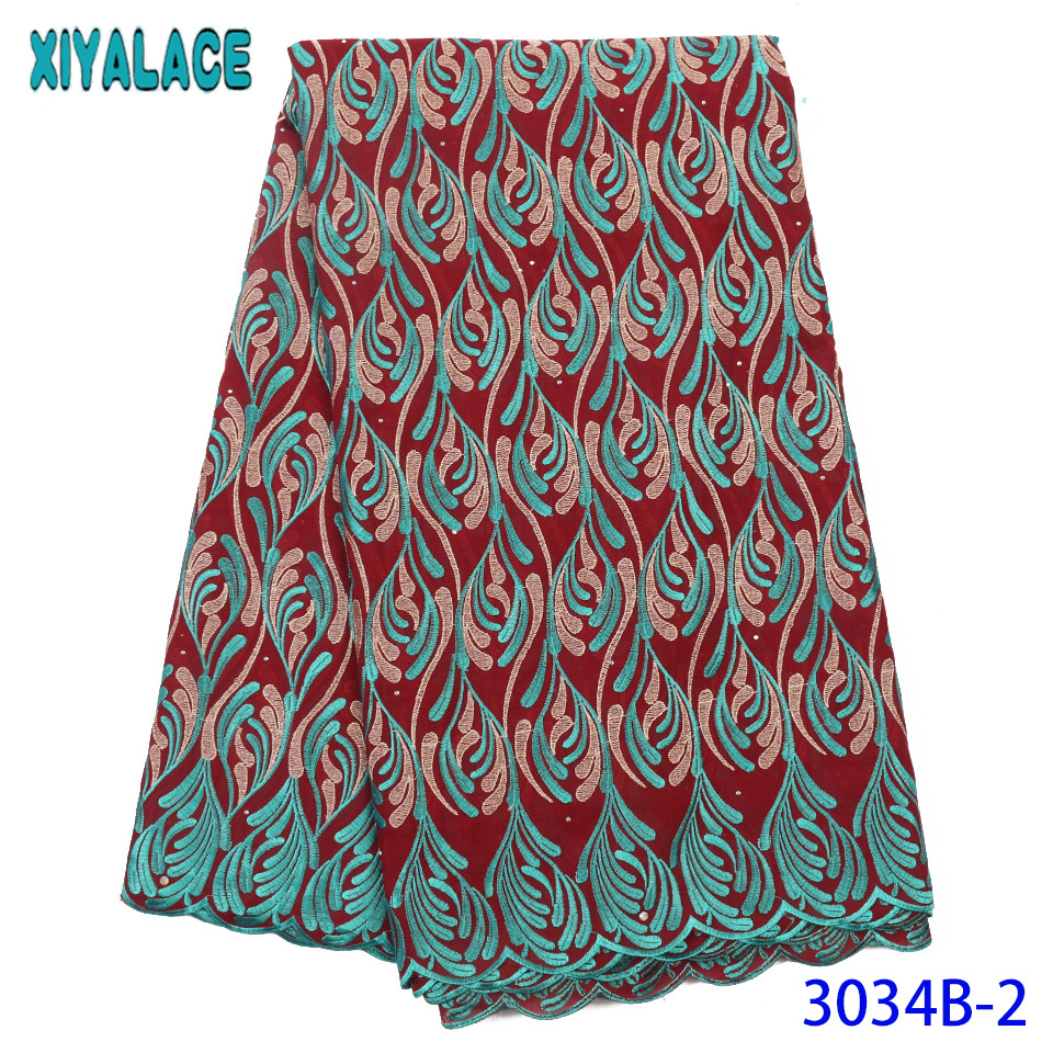 High Quality Swiss Voile Lace In Switzerland 2019 Soft African Cotton Lace Fabric Nigerian Embroidery Laces With Stones KS3034B