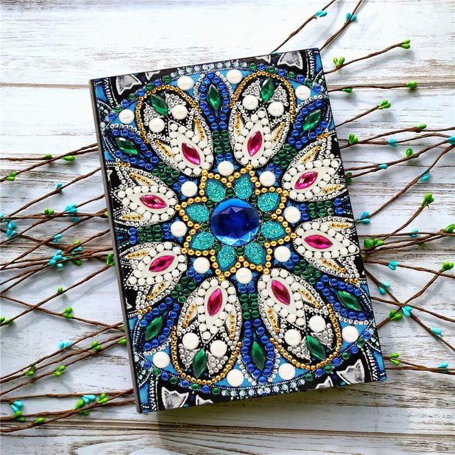 HUACAN DIY Diamond Painting Notebook Special Shaped A5 Diary Book Diamond Art Kits Mosaic Diamond Embroidery
