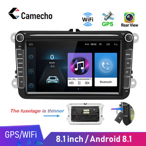 Camecho Car Multimedia player Android 8.1 GPS 2 Din Car Autoradio Radio For VW/Volkswagen/Golf/Polo/Passat/b7/b6/SEAT/leon/Skoda(China)