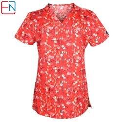 Hennar brand women scrub top in cotton or T/C