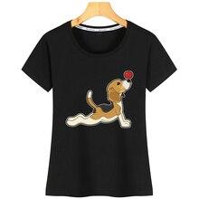Tops T Shirt Women Beagle Funny Vintage Print Tshirt